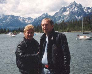 Jane and Walt at the Grand Tetons